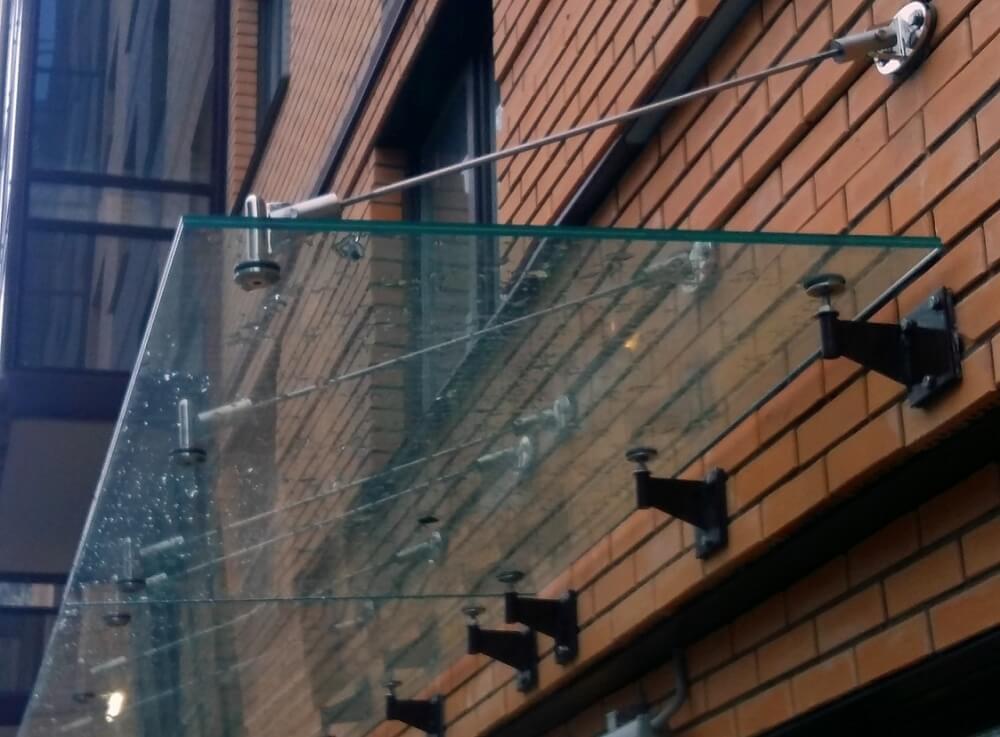 навесы из стекла